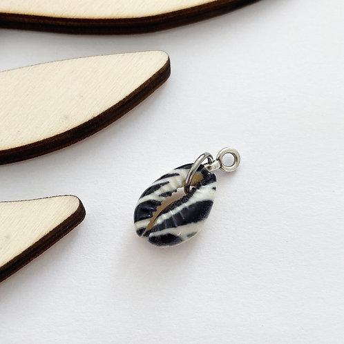 Hanger Schelp Zebra Zilver