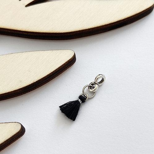 Hanger Kwastje Zwart Zilver
