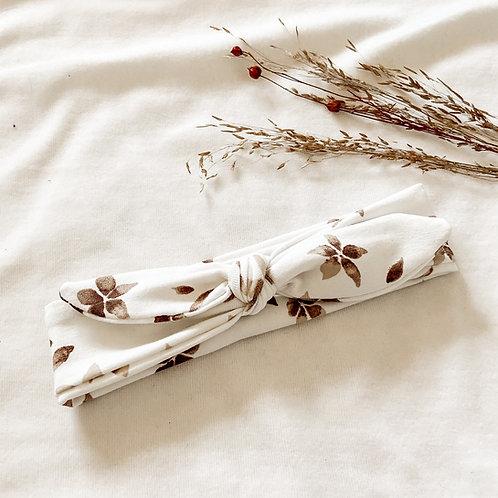 Haarband Bloem Taupe