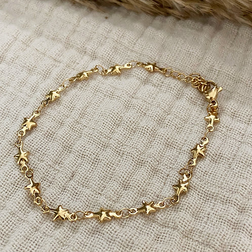 Armband Stars Gold (zilver/goud)