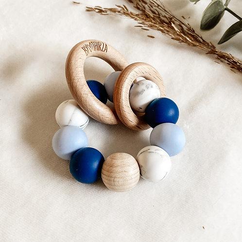Bijtring Blauw Marmer