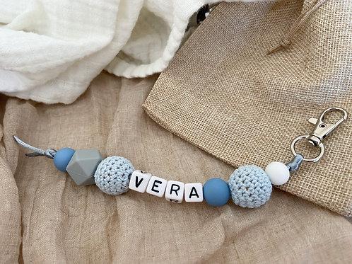 Sleutelhanger Blue White Grey