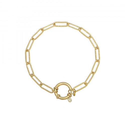 Armband Chain Beau (zilver/goud)