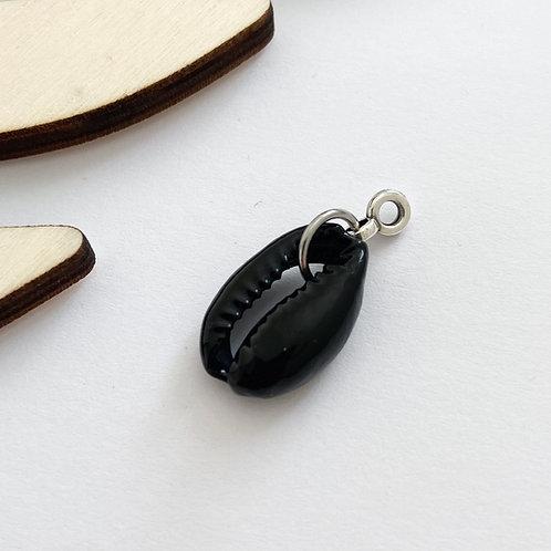 Hanger Schelp Zwart Zilver