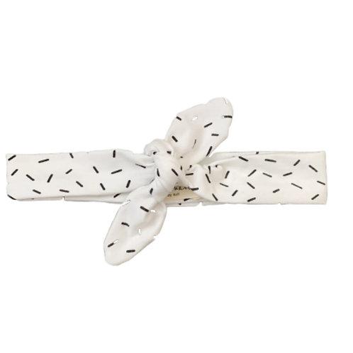 Haarband White Confetti Strik