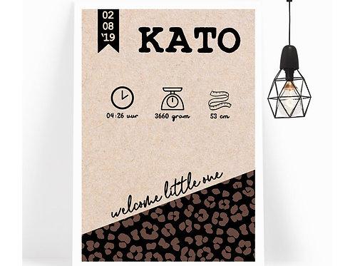 Poster Leopard Kraft
