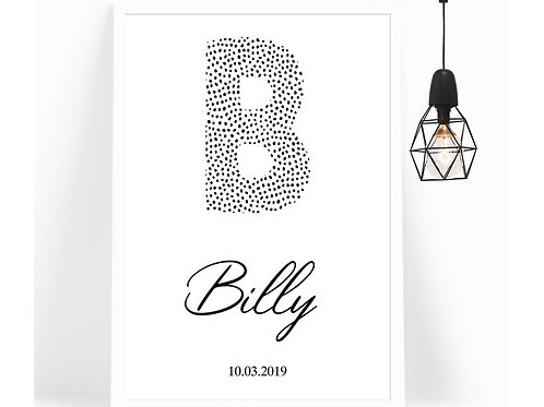 Poster Letter Dots