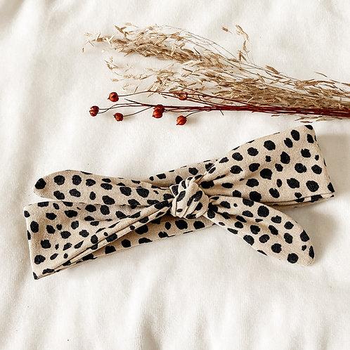 Haarband Beige Stip