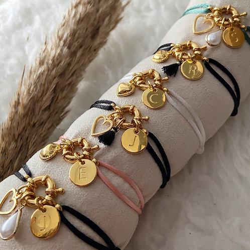 Armband Satijnkoord Boei Goud