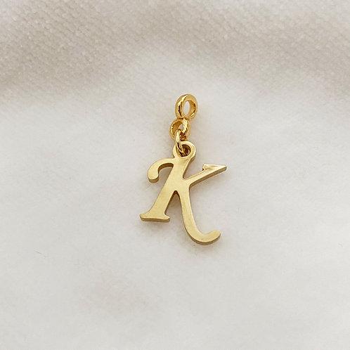 Hanger Sierlijke Letter Goud