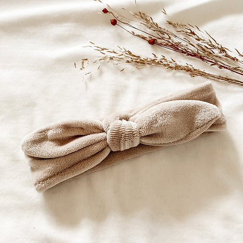 Haarband Velvet Beige