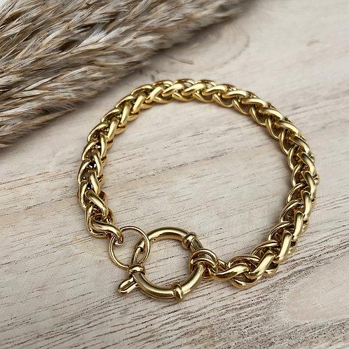 Armband Chain Quinn (zilver/goud)