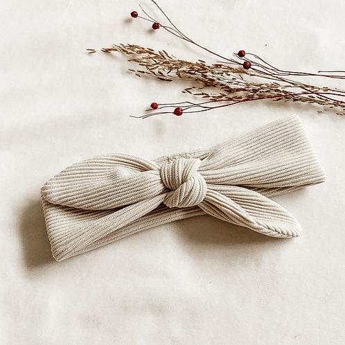 Haarband Beige Rib Strik