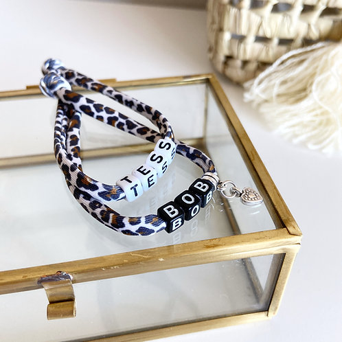 Armband Luipaard Wit Bruin (DESIGN YOUR OWN)