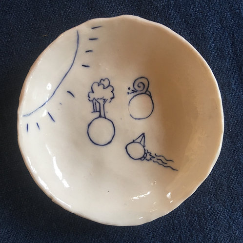 Pinched mini dish 9