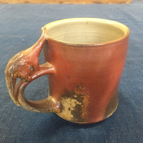 Brontosaurus Wood fired Mug 1