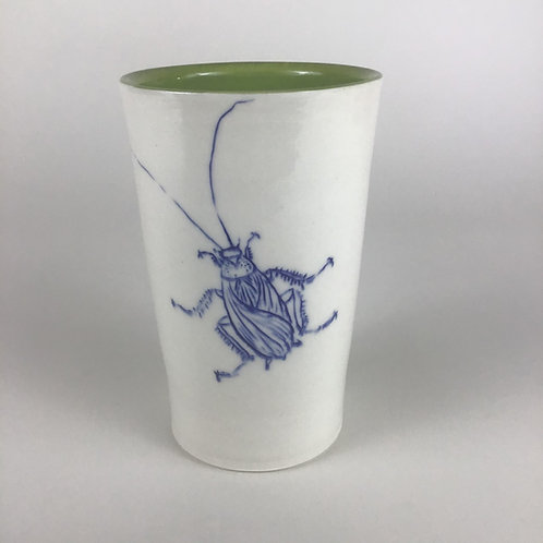 Cockroach tumbler in chartreuse