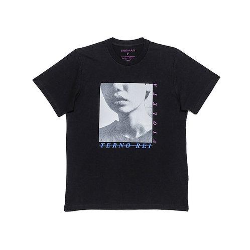 Camiseta Violeta Preta