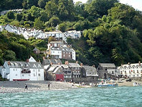 Clovelly from sea.JPG