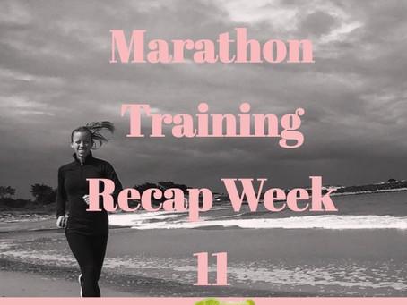 Boston and Marine Corps Marathon Training - Week 11