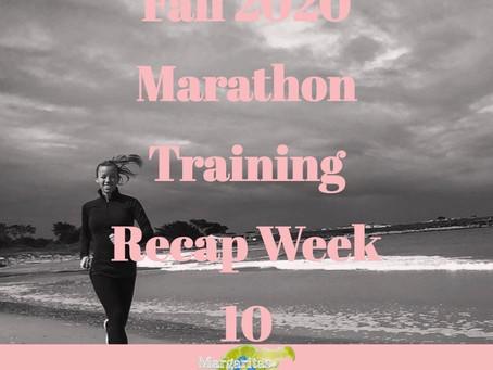 Boston and Marine Corps Marathon Training Recap - Week 10