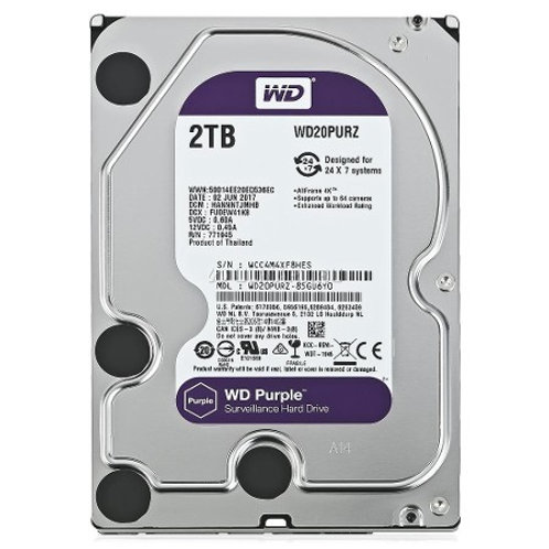 2 TB WESTERN DIGITAL SATA3 INTELLIPOWER 64MB CACHE PURPLE WD20PURZ (7/24 GUVENLI