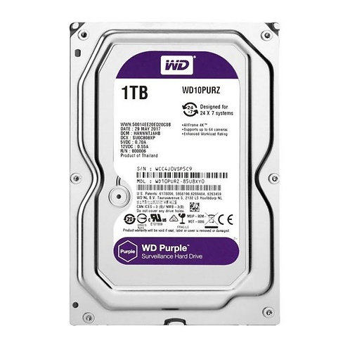1 TB WESTERN DIGITAL SATA3 INTELLIPOWER 64MB PURPLE WD10PURZ (7/24 GUVENLIK DISK