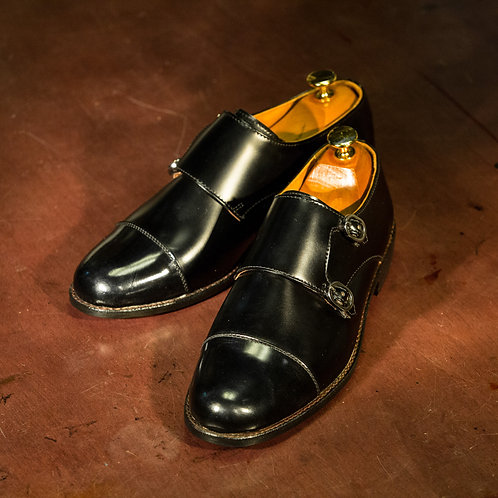 OC 001 - Double Monk Straps in Black