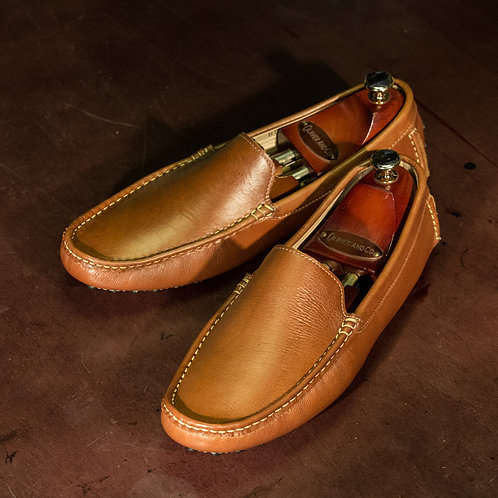 HT 1001 - Driving Loafers in Mid Brown