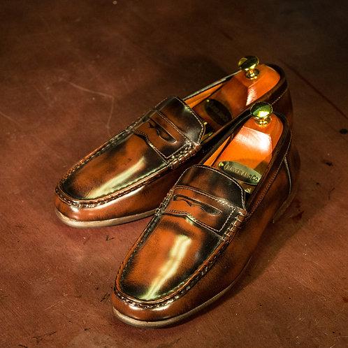 OC 002 - Penny Loafers in Oakwood Brown