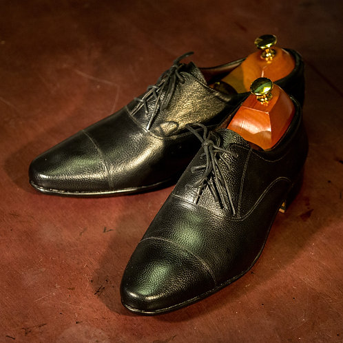 OC 004/2 - Oxford  Cap Toe Narrow in Black