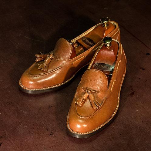 OC 008 - Tassel Loafers Grains in Light Brown
