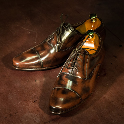 OC 004/2 - Oxford  Cap Toe Narrow in Antique Brown
