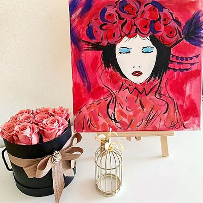 Момичето и цветята