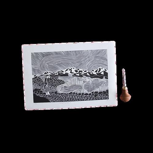 Kangchenjunga II - Himalayan Mountain Print
