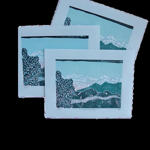 Kangchenjunga I - Himalayan Mountain Print