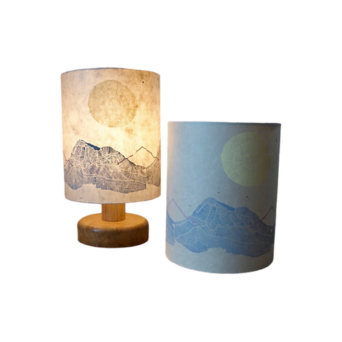 Block Printed Lampshade