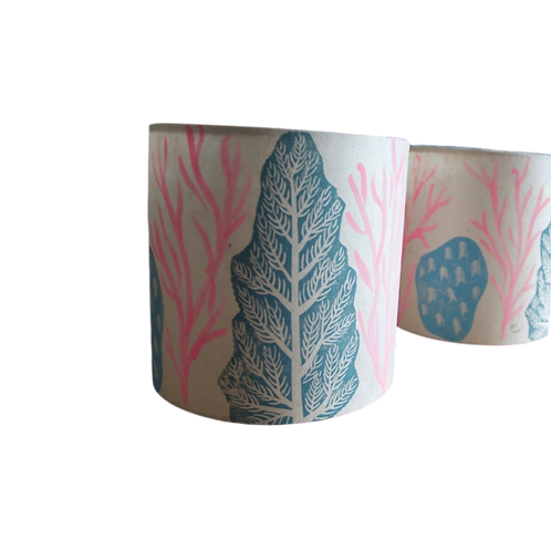 Pink + Green Hygge Lampshade