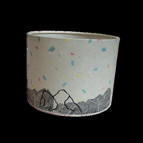 Mountain + Sky Lampshade