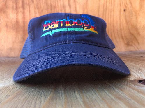 BambooAfrika charcoal grey tropical trucker cap