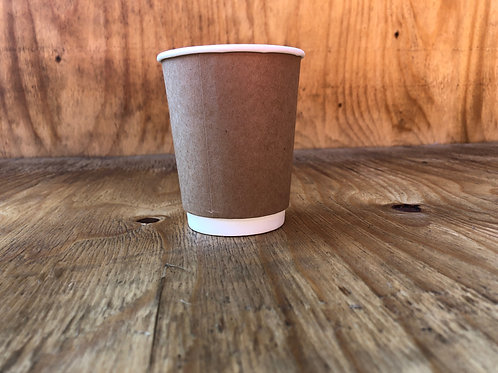 250ml double wall coffee cups brown