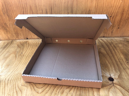 Large 30cm kraft brown pizza box