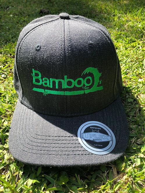 BambooAfrika XL/L grass green charcoal grey original BambooAfrika logo Uflex cap