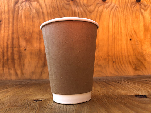 350ml double wall brown coffee cups