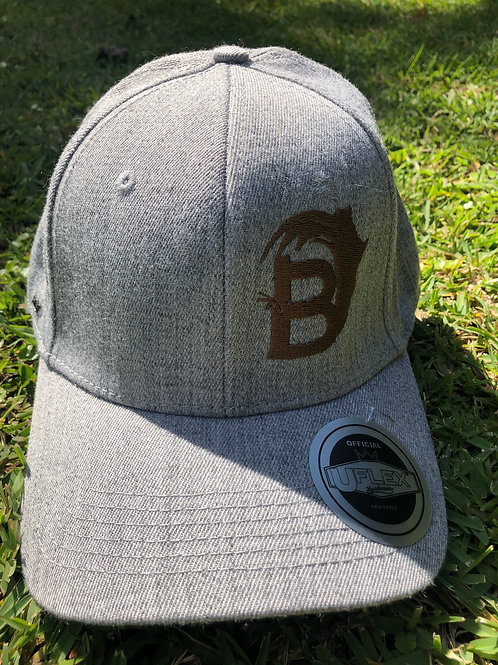 BambooAfrika XL/L earth light grey original B logo Uflex cap