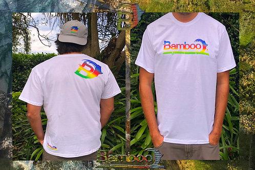 BambooAfrika white tropical mens medium t-shirt