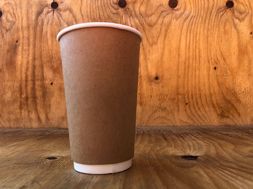 500ml double wall brown coffee cups
