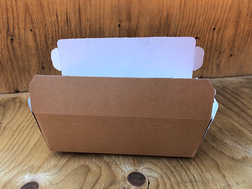Double hamburger combo brown carton box