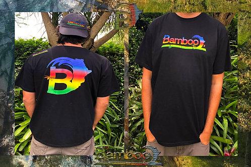 BambooAfrika black mens large tropical t-shirt