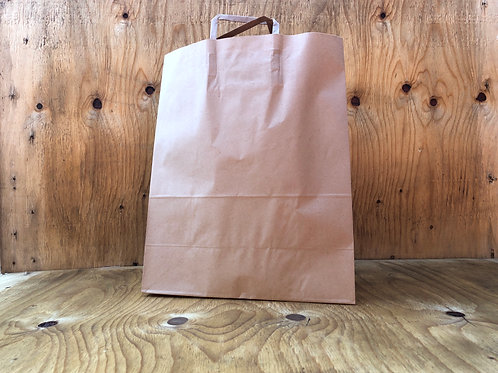 Shopper large brown paper bags with handles